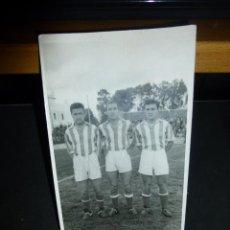 Coleccionismo deportivo: FOTOGRAFIA ORIGINAL DE JUGADORES DEL XEREZ DEPORTIVO, AÑOS 50, RAFAEL VERDU, GALLO Y OTRO. Lote 46206266
