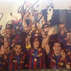 Coleccionismo deportivo: IIMPRESIONANTE FOTO GRANDE FUTBOL CLUB FC BARCELONA F.C BARÇA CF FIRMAS DEL MEJOR EQUIPO DEL MUNDO. Lote 46591606