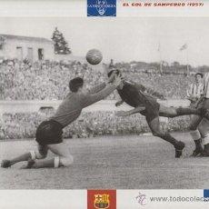 Coleccionismo deportivo: LAMINA FICHA - F.C. BARCELONA - EL GRAN ALBUM DEL BARÇA Nº72 - GOL DE SAMPEDRO 1957 - LA VANGUARDIA. Lote 47293589