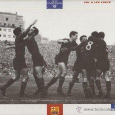 Coleccionismo deportivo: LAMINA FICHA - F.C. BARCELONA - EL GRAN ALBUM DEL BARÇA Nº74 GOL A LES CORTS - LA VANGUARDIA. Lote 47293652