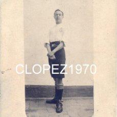 Coleccionismo deportivo: SEVILLA,ANTIQUISIMA FOTOGRAFIA DE UN JUGADOR DE FUTBOL, REAL CLUB LA CALZADA, 90X98MM. Lote 47463939