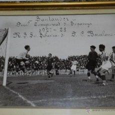 Coleccionismo deportivo: FC BARCELONA 3 R SOCIEDAD 1 , ESPECTACULAR FOTOGRAFIA ORIGINAL FINAL CAMPIONATO DE ESPAÑA 1927 /28. Lote 48453371