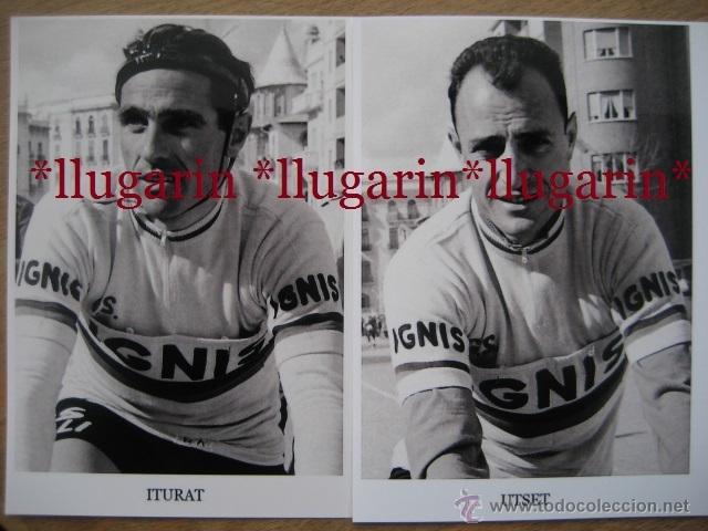 Coleccionismo deportivo: CICLISMO - IGNIS - 5 CICLISTAS: UTSET, ITURAT, SAURA, CAMPILLO y ESMATGES - Foto 2 - 53071009