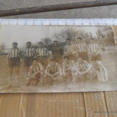 Coleccionismo deportivo: FOTO FOTOGRAFIA DE EQUIPO DE FUTBOL A IDENTIFICAR FOTOGRAFO JOAQUIN PEÑA ALBACETE. Lote 49207013