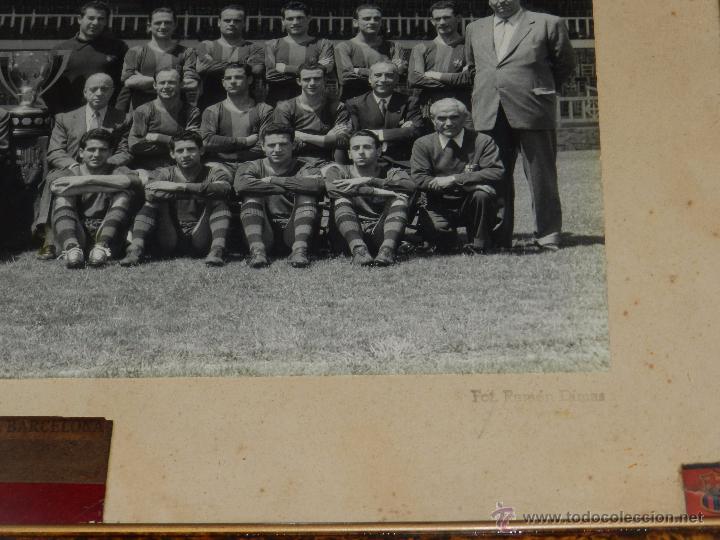 Coleccionismo deportivo: FC BARCELONA - GRAN FOTOGRAFIA ORIGINAL DE LA PLANTILLA DEL FC BARCELONA, KUBALA, CESAR, RAMALLETS - Foto 4 - 49228758