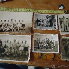 Coleccionismo deportivo: FUTBOL CADIZ - LOTE DE FOTOGRAFIAS 1943 1949 PELOTA FUTBOL CLUB - CONTRA COLUMELA PEÑA MIRANDILLA ... Lote 49315685