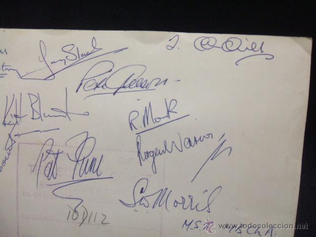 Coleccionismo deportivo: 1959 1960 - WEMBLEY - FINAL AMATEUR DE FUTBOL - KINGSTONIAN - HENDON - DORSO CON FIRMAS - - Foto 5 - 49526430