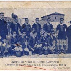Coleccionismo deportivo: EQUIPO DEL CLUB DE FUTBOL BARCELONA - 1941-1942. Lote 49568757