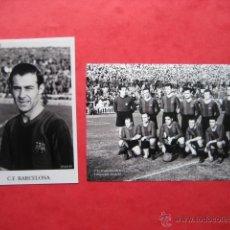 Coleccionismo deportivo - FOTOS FUTBOL (2) - CLUB C.F.BARCELONA - Temporada 1944/45 - 1 futbolista (Cesar) y 1 formacion - 49995814