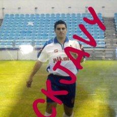 Coleccionismo deportivo: FOTOGRAFIA PRENSA REAL ZARAGOZA PRESENTACION OSCAR GONZALEZ. Lote 50112929