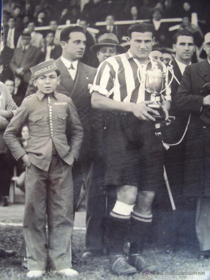 Coleccionismo deportivo: (F-0801)FOTOGRAFIA PARTIDO DE FUTBOL HERCULES C.F.-ATHLETIC DE BILBAO,12 DE ENERO DE 1933 - Foto 3 - 50542004