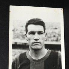 Coleccionismo deportivo: TARJETA POSTAL FOTOGRAFIA C.F.BARCELONA CON BIOGRAFIA DEL JUGADOR JUAN SEGARRA IRACHETA SIN CIRCULAR. Lote 50700093