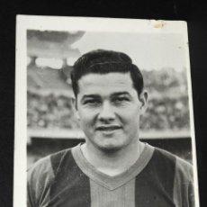 Coleccionismo deportivo: TARJETA POSTAL FOTOGRAFIA C.F.BARCELONA CON BIOGRAFIA DEL JUGADOR EULOGIO RAMIRO MARTINEZ SIN CIRCUL. Lote 50700318
