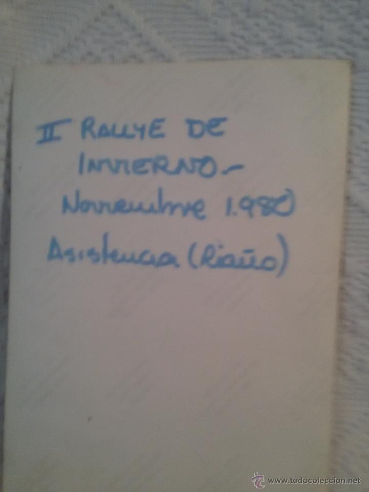 Coleccionismo deportivo: FOTO ANTIGUA -II RALLYE DE INVIERNO-1980-ASISTENCIA- RIAÑO. - Foto 3 - 50876969