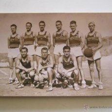 Coleccionismo deportivo: FOTOGRAFÍA ORIGINAL DEL EQUIPO DE BALONCESTO DEL F.C. BARCELONA. AÑO 1943 MADRID. Lote 52000191