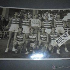 Coleccionismo deportivo - R.C.D. ESPANYOL - BALONCESTO - FOTO ORIGINAL 1941 EQUIPO QUE QUEDO POR UNICA VEZ CAMPEON DE ESPAÑA - 52370171