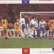 Coleccionismo deportivo: LÁMINA DEL GOL DE KOEMAN, FC BARCELONA N. 52 DE LA COLECCIÓN EL GRAN ÁLBUM DEL BARÇA. LA VANGUARDIA. Lote 52404424