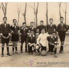 Coleccionismo deportivo: TARJETA POSTAL FOTOGRAFICA EQUIPO JUVENIL FUTBOL. CIRCA 1910. Lote 53338440