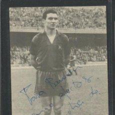 Coleccionismo deportivo: AUTOGRAFO ORIGINAL DEDICADO DE FUSTE -JUGADOR F.C.BARCELONA-8X13 CM-VER REVERSO-(CD-1429). Lote 54471601