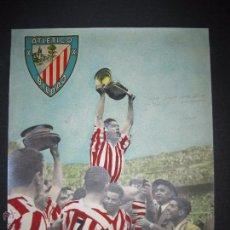 Coleccionismo deportivo: FOTO ORIGINAL-ATL. BILBAO PIRU GAINZA CELEBRA COPA AÑO 1958-SELLO CLAUDIO HIJO-VER REVERSO-(V-4477). Lote 54516460