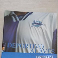 Coleccionismo deportivo: CARPETA CON LA PLANTILLA DEL DEPORTIVO ALAVES 2000-2001 CUERPO TECNICO Y CATEGORIAS INFERIORES. Lote 56253405