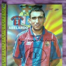Coleccionismo deportivo: TUBAL TARJETON FBC BARÇA 30X21 CMS DEDICATORIA FIRMA AUTOGRAFA ABELARDO C2. Lote 57232940