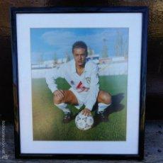 Coleccionismo deportivo: FOTOGRAFIA FUTBOL. PARADA, ALBACETE BALOMPIE. ENMARCADA. . Lote 57280225