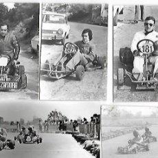 Coleccionismo deportivo: LOTE DE 15 FOTOGRAFIAS CARRERAS KARTS EN PROVINCIA DE LLEIDA AÑOS 60/70 (VER DETALLE). Lote 57297910