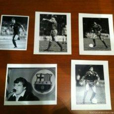 Coleccionismo deportivo: FOTOS JUGADORES FUTBOL CLUB BARCELONA AÑOS 80. Lote 57333502