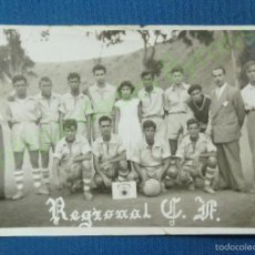 Collezionismo sportivo: EQUIPO DE FÚTBOL. GRAN CANARIA. REGIONAL C.F. AÑO 1951. SELLO FRANCISCO IGEÑO (10,5 X 6,5 CM). Lote 57619041