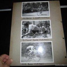 Coleccionismo deportivo: TRES FOTOGRAFIAS DE CICLISTAS DE S.D.KAS.-MIERES,JOSE MANUEL FUENTES Y LASA. Lote 58302109