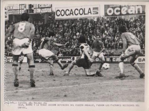 FOTO FUTBOL REAL CLUB DEPORTIVO ESPAÑOL 0 MALAGA O - 11-10-1970 FOTO PERES ROZAS (Coleccionismo Deportivo - Documentos - Fotografías de Deportes)