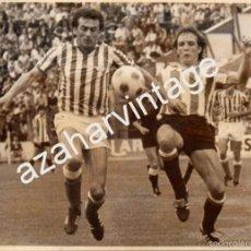 Coleccionismo deportivo: REAL BETIS BALOMPIE, AÑOS 70, BETIS - ATHLETIC DE BILBAO, ENRIQUE MORAN,178X128MM. Lote 58687576