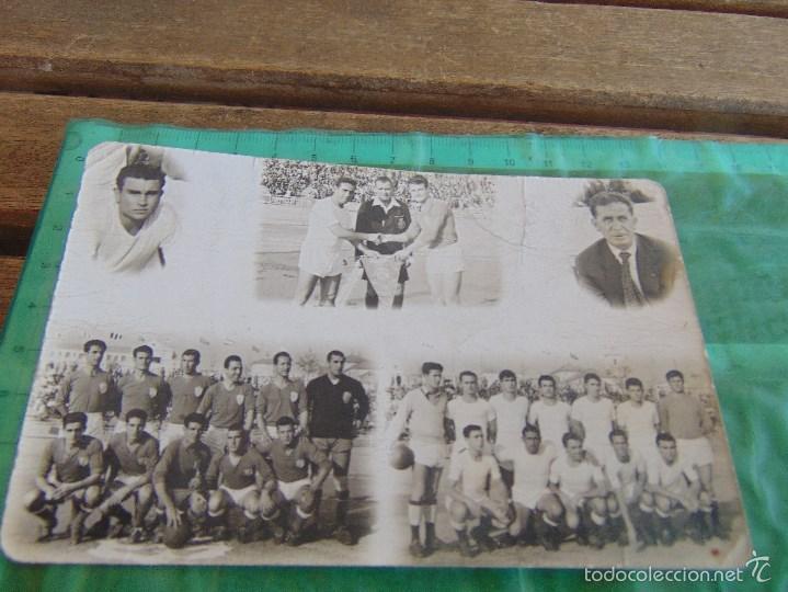 FOTO FOTOGRAFIA TARJETA POSTAL PARTIDO DE FUTBOL A IDENTIFICAR (Coleccionismo Deportivo - Documentos - Fotografías de Deportes)