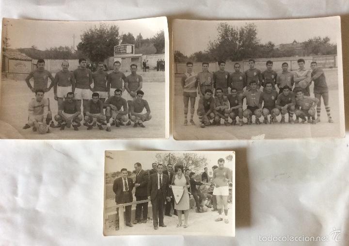 TRES FOTOGRAFÍAS FÚTBOL. DEPORTIVO ALBAIDENSE. ALBAIDA. VALENCIA. (Coleccionismo Deportivo - Documentos - Fotografías de Deportes)