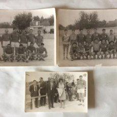 Coleccionismo deportivo: TRES FOTOGRAFÍAS FÚTBOL. DEPORTIVO ALBAIDENSE. ALBAIDA. VALENCIA.. Lote 59807260