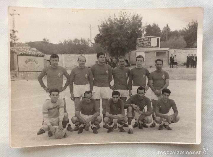 Coleccionismo deportivo: TRES FOTOGRAFÍAS FÚTBOL. DEPORTIVO ALBAIDENSE. ALBAIDA. VALENCIA. - Foto 5 - 59807260