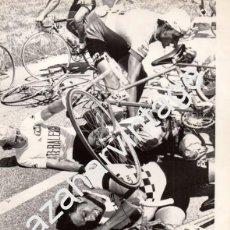 Coleccionismo deportivo: TOUR DE FRANCIA, 1976, CAIDA COLECTIVA, REGIS OVIGN Y ALBERT PRONK, 240X180MM. Lote 63534316