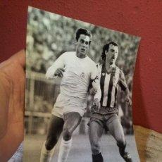 Coleccionismo deportivo: ORIGINAL FOTO DE PRENSA FUTBOL PINEDA REAL MADRID 1980 CON MARCAS ARCHIVO FOT.RAUL CANCIO EL IMPARCI. Lote 63898675