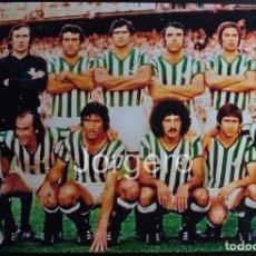 Collectionnisme sportif: R. BETIS B. ALINEACIÓN CAMPEÓN COPA DEL REY 1976-1977 EN EL CALDERÓN CONTRA ATH. BILBAO. FOTO. Lote 233478055
