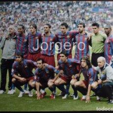 Coleccionismo deportivo: F.C. BARCELONA. ALINEACIÓN GANADOR CHAMPIONS 2005-2006 EN PARÍS CONTRA EL ARSENAL. FOTO. Lote 174416677