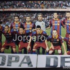 Coleccionismo deportivo: F.C. BARCELONA. ALINEACIÓN FINALISTA COPA DEL REY 2010-2011 EN MESTALLA CONTRA REAL MADRID. FOTO. Lote 85083120