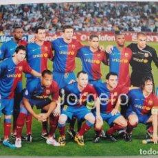 Coleccionismo deportivo: F.C. BARCELONA. ALINEACIÓN GANADOR CHAMPIONS 2008-2009 EN ROMA CONTRA MANCHESTER U. FOTO. Lote 174421780