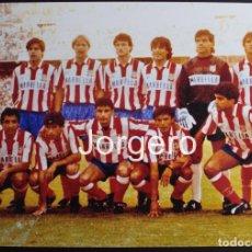 Coleccionismo deportivo: AT. MADRID. ALINEACIÓN CAMPEÓN COPA DEL REY 1990-1991 EN EL BERNABÉU CONTRA EL MALLORCA. FOTO. Lote 182425996