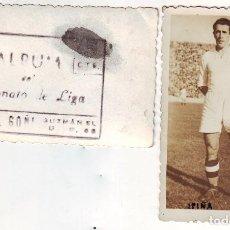 Coleccionismo deportivo: FOTOGRAFÍA DE IPIÑA JUGADOR DEL REAL MADRID DÉCADA DE LOS 40. Lote 69763813