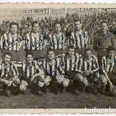 Coleccionismo deportivo: S. G. LUCENSE. LUGO 1950. FUTBOL. EQUIPO FOTOGRAFÍA FIRMADO POR TODOS LOS JUGADORES.. Lote 70156353