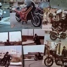 Coleccionismo deportivo: MOTOCICLISMO. 9 FOTOS ORIGINALES DE ÉPOCA. Lote 77646705