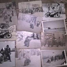 Coleccionismo deportivo: MOTOCICLISMO. ZONA DE VALENCIA. 11 FOTOS ORIGINALES. AÑOS 70. Lote 77647625