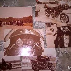 Coleccionismo deportivo: MOTOCICLISMO. 6 FOTOS. AÑOS 70. ORIGINALES. Lote 77653077