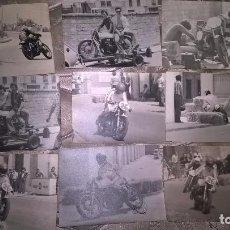Coleccionismo deportivo: MOTOCICLISMO. ZONA DE VALENCIA. 9 FOTOS. AÑOS 70. ORIGINALES. Lote 77653181